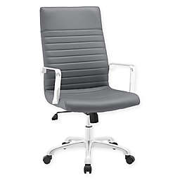 Modway Finesse Highback Office Chair in Grey