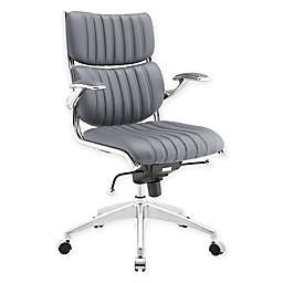 Modway Escape Mid-Back Office Chair in Grey