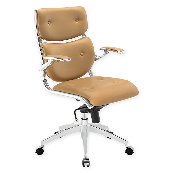 Alternate image 1 for Modway Push Mid-Back Office Chair in Tan
