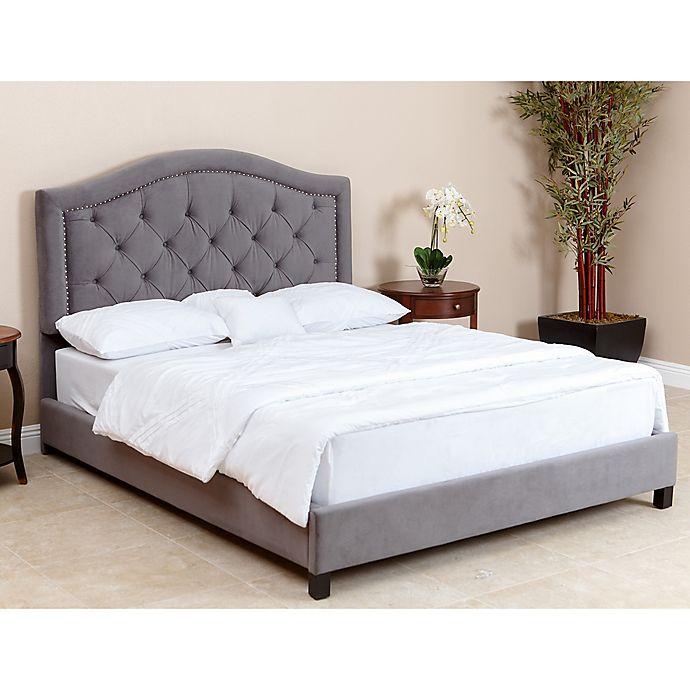 Alternate image 1 for Abbyson Living® Hillsdale Velvet Queen Bed