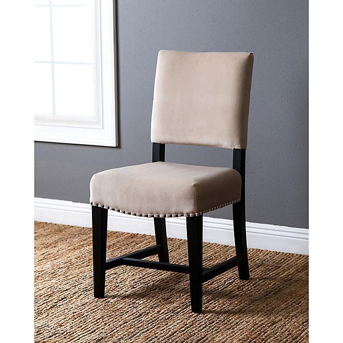 Abbyson Living 174 Crystal Velvet Dining Chair In Ivory