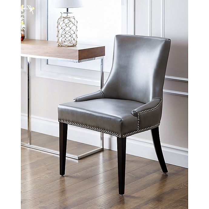 Incredible Maxine Leather Dining Chair In Grey Gmtry Best Dining Table And Chair Ideas Images Gmtryco