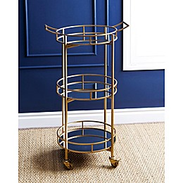Abbyson Living® Marriot 3-Tier Round Bar Cart