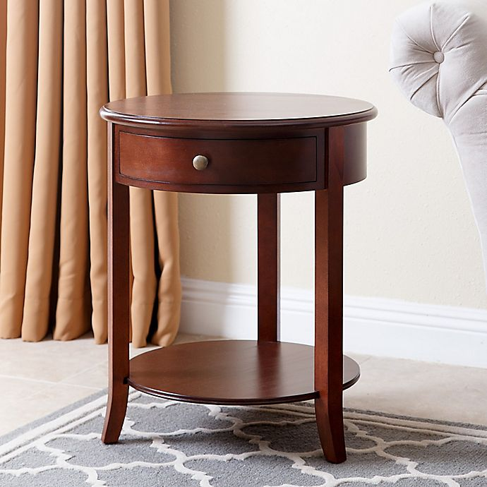 Abbyson Living Carson End Table In Brown Bed Bath Amp Beyond