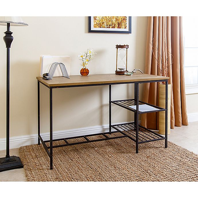 Peachy Abbyson Living Kirkwood Office Desk In Natural Bed Bath Download Free Architecture Designs Scobabritishbridgeorg