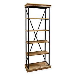 Abbyson Living® Dutch Industrial 5-Shelf Bookcase in Natural