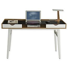 Techni Mobili Multi Storage Compact Computer Desk in Walnut