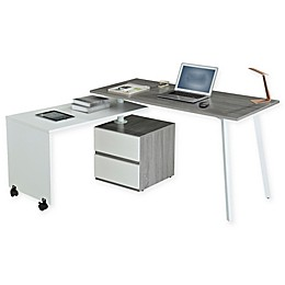 Techni Mobili Rotating Multi-Positional Modern Desk in Grey