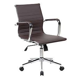 Techni Mobili Modern Executive Office Chair in Brown