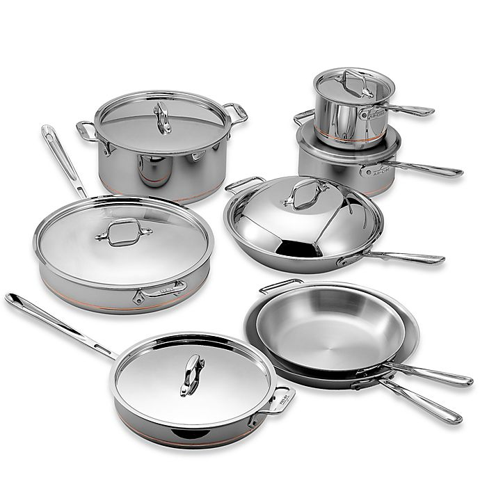 Alternate image 1 for All-Clad Copper Core® 14-Piece Cookware Set