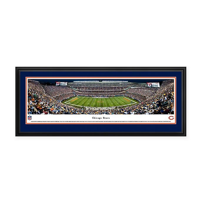 Alternate image 1 for NFL Chicago Bears Soldier Field Panoramic Print with Deluxe Frame