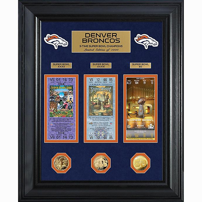 Alternate image 1 for NFL Denver Broncos Limited Edition Super Bowl Ticket and Game Coin Collection