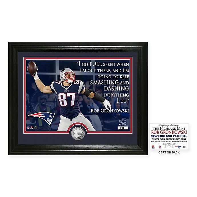 Alternate image 1 for NFL New England Patriots Rob Gronkowski Quote Photo Mint