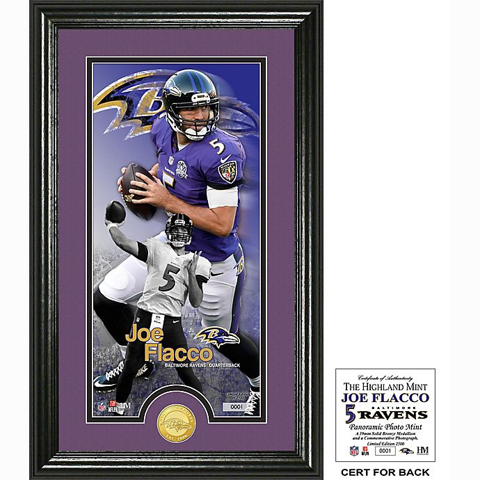 207db63c NFL Baltimore Ravens Joe Flacco Supreme Bronze Coin Photo Mint | Bed ...