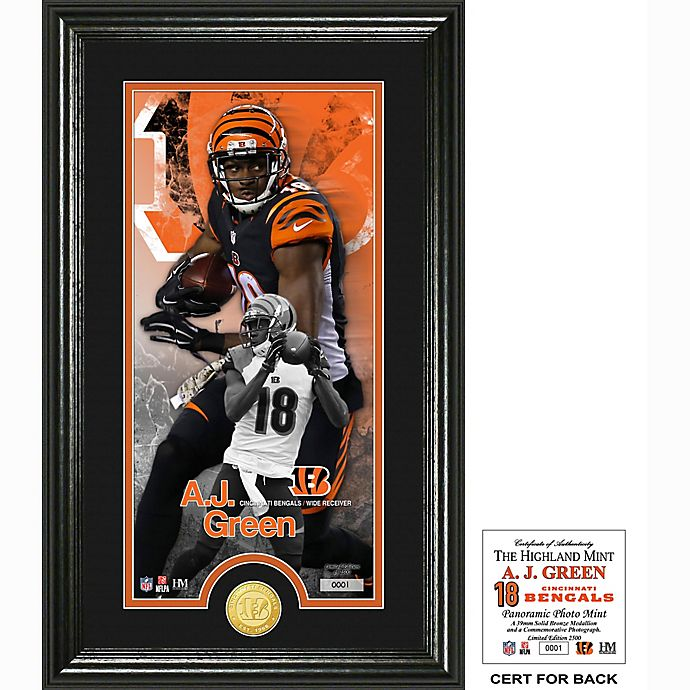 Alternate image 1 for NFL AJ Green Supreme Bronze Coin Photo Mint