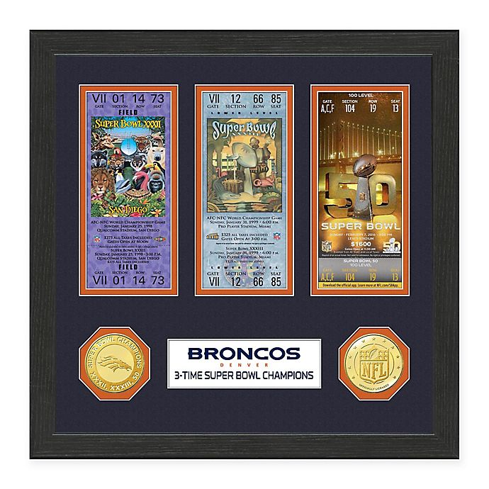 Alternate image 1 for NFL Denver Broncos Super Bowl Ticket Collection