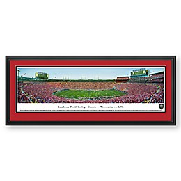 Lambeau Field College University Badgers vs. LSU Tigers Panoramic Print with Deluxe Frame