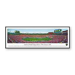 Lambeau Field College Classic, Wisconsin Badgers vs. LSU Tigers Panoramic Print with Standard Frame