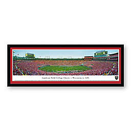 Lambeau Field College Classic, Wisconsin Badgers vs. LSU Tigers Panoramic Print with Select Frame