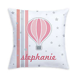 Hot Air Balloon Pillow in Pink/White