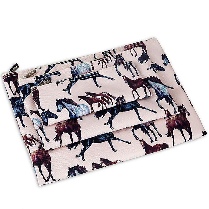 Alternate image 1 for Olive Kids Horse Dreams 3-Piece Organizer Pouch Set in Tan