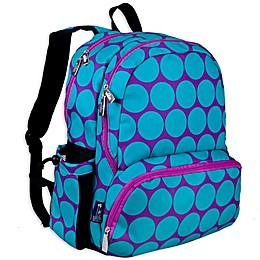 Wildkin Big Dot Megapak Backpack in Aqua/Purple