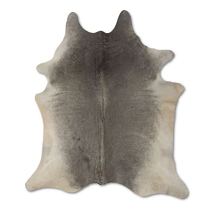 Alternate image 1 for bel amore® Geneva Cowhide 6' x 7' Handcrafted Area Rug in Grey