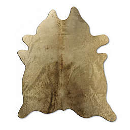 bel amore® Geneva Cowhide 6' x 7' Handcrafted Area Rug in Taupe