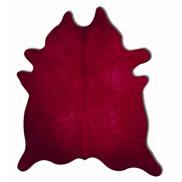 Alternate image 1 for Natural Rugs Geneva Cowhide 6-Foot x 7-Foot Area Rug in Burgundy