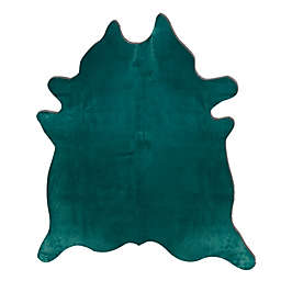 Natural Rugs Geneva Cowhide 6-Foot x 7-Foot Area Rug
