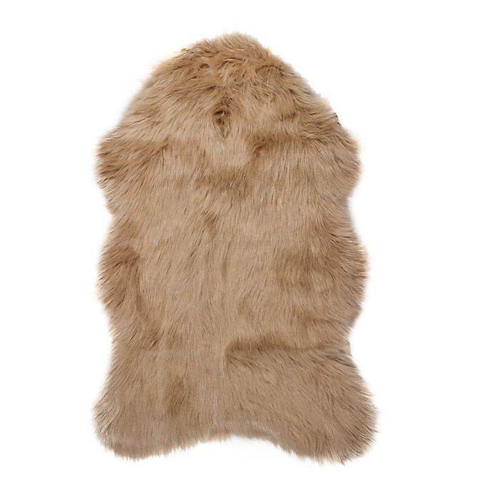 Alternate image 1 for Luxe Gordon Faux Fur Sheepskin Shag Rug/Throw