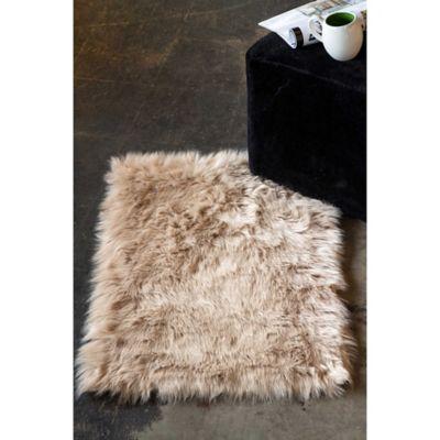 Luxe Hudson Faux Fur Sheepskin Shag Rug Throw Bed Bath