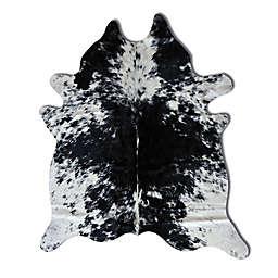 Natural Rugs Kobe Cowhide 6-Foot x 7-Foot Area Rug in Black/White