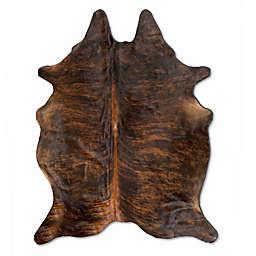 Natural Rugs Kobe Cowhide 6-Foot x 7-Foot Area Rug in Dark Brindle