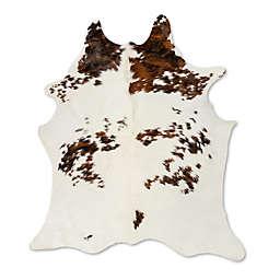 Natural Rugs Kobe Cowhide 6-Foot x 7-Foot Area Rug in White