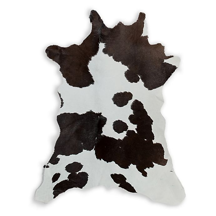 Alternate image 1 for Natural Rugs Calfskin Cowhide 2-Foot x 3-Foot Accent Rug in Chocolate/White