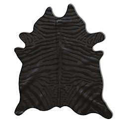 Natural Rugs Togo Cowhide 6-Foot x 7-Foot Area Rug in Zebra Black on Black