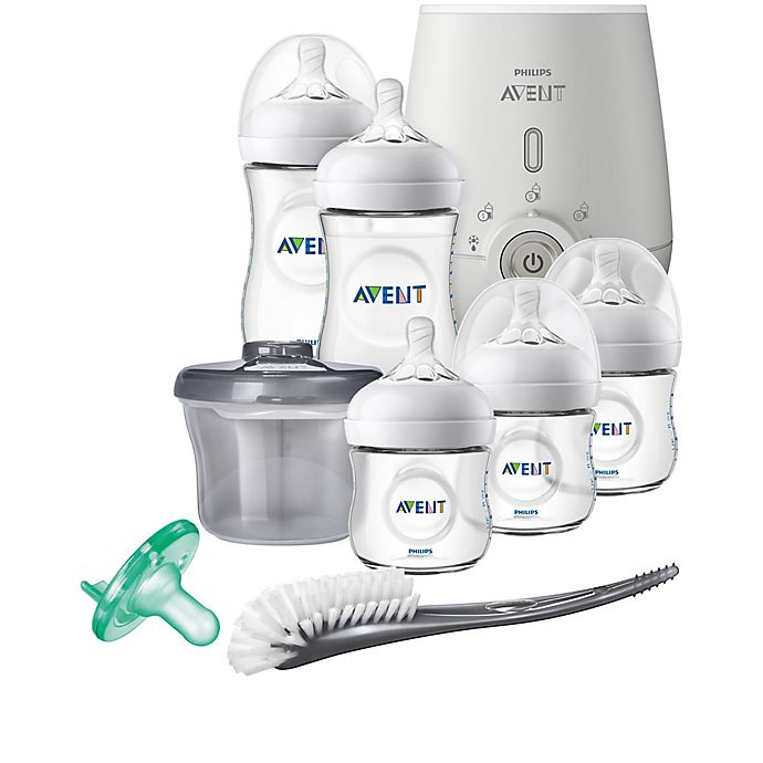 Alternate image 1 for Philips Avent Natural 8-Piece Wide Neck Gift Set With Bottle Warmer