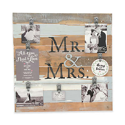 """Sweet Bird & Co. """"Mr. & Mrs."""" 22-Inch x 22-Inch 7-Clip Picture Frame"""