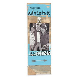 "Sweet Bird & Co. ""And the Adventure Begins"" 5-Inch x 7-Inch Clip Picture Frame"