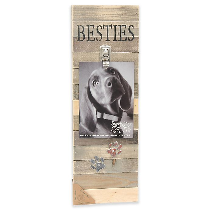 Alternate image 1 for Sweet Bird & Co. Besties 6-Inch x 18-Inch Reclaimed Wood Clip Frame