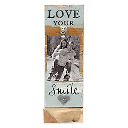 Sweet Bird & Co. Love Your Smile 6-Inch x 18-Inch Reclaimed Wood Clip Frame