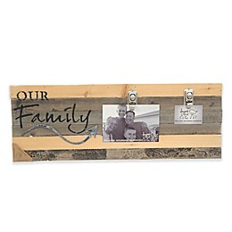 Sweet Bird & Co. Our Family 8-Inch x 22-Inch Reclaimed Wood Clip Frame