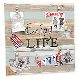 Sweet Bird & Co. Enjoy Life 22-Inch Square Reclaimed Wood Clip Frame