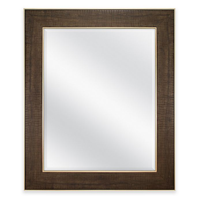 30 Inch X 36 Rectangular Embossed, 30 X 36 Gold Framed Mirror