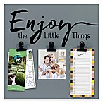 Malden® 3-Photo  Enjoy the Little Things   Display Board with Clips