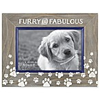 Furry and Fabulous  4-Inch x 6-Inch Etched Wood Frame