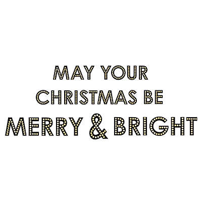 "WallPops!® ""May Your Christmas Be Merry and Bright"" Wall Decal Kit in Black"