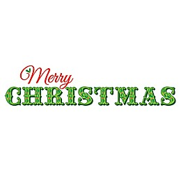 """WallPops!® """"Merry Christmas"""" Wall Decal Kit in Green/Red"""