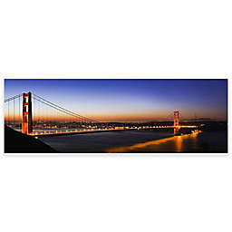Elementem Photography 20-Inch x 60-Inch Photographic Wall Art of Golden Gate Night View